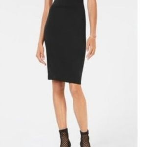 INC NWT Solid Black Pencil Skirt Size Large